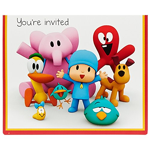 BirthdayExpress Pocoyo Party Supplies Invitations for 8