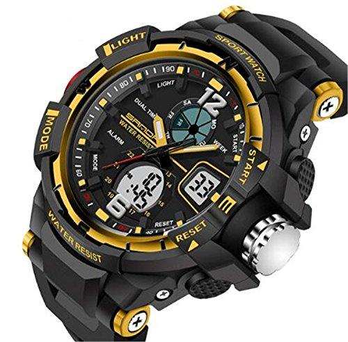Yellow Watch Girls (Kids Watches Outdoor Sports Children Watch Quartz Watch Boy Girls LED Digital Alarm Wristwatch Yellow)