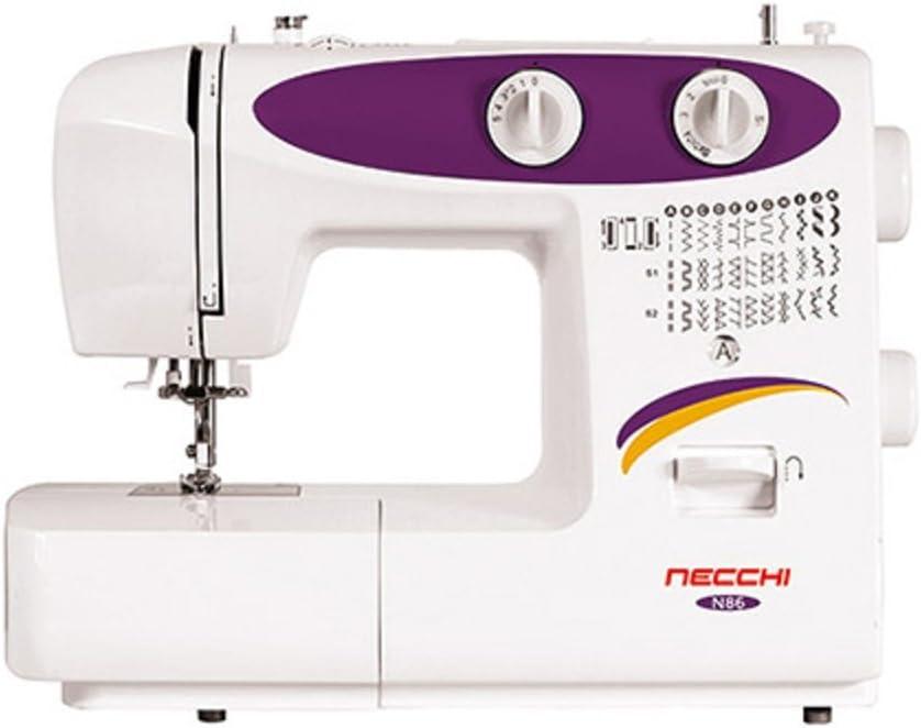 Necchi N86 - Máquina de coser (Púrpura, Blanco, Costura, Paso 4, 4 ...