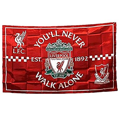STER-TSP Liverpool FC Flag Soccer Club Authentic Banner - You'll Never Walk Alone 3x5 ft Red