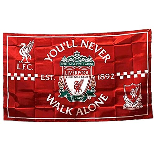 STER-TSP Liverpool FC Flag Soccer Club Authentic Banner - You'll Never Walk Alone 3x5 ft - Liverpool Flag