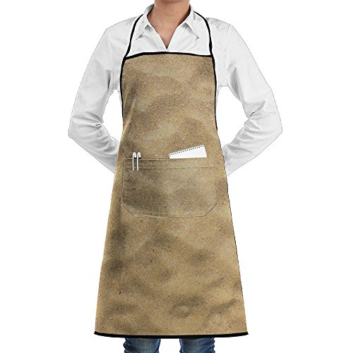 SmallTing Sand Texture Brown Sand Background From Fine Sand Sand Background Durable Cotton Waiter Black One Size Apron With Pockets Adjustable