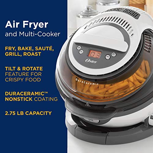 Oster  Dura Ceramic Air Fryer, Large/3L, Black by Oster (Image #4)