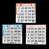 1 on Bingo Paper Game Cards Triple Value Pack - 500 Blue, 500 Orange, 500 Pink - 4 Inch Square Size Disposable Cards - Made in USA