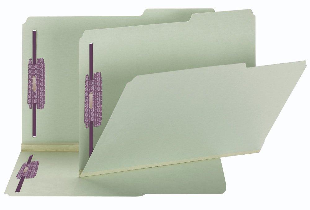 Two Inch Expansion Fastener Folder, 2/5 Right Tab, Legal, Gray Green, 25/Box (並行輸入品) B000GLU2WO