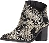Kenneth Cole REACTION Women's Cue The Music Notch Western Style Stars Ankle Bootie, Black, 7.5 M US