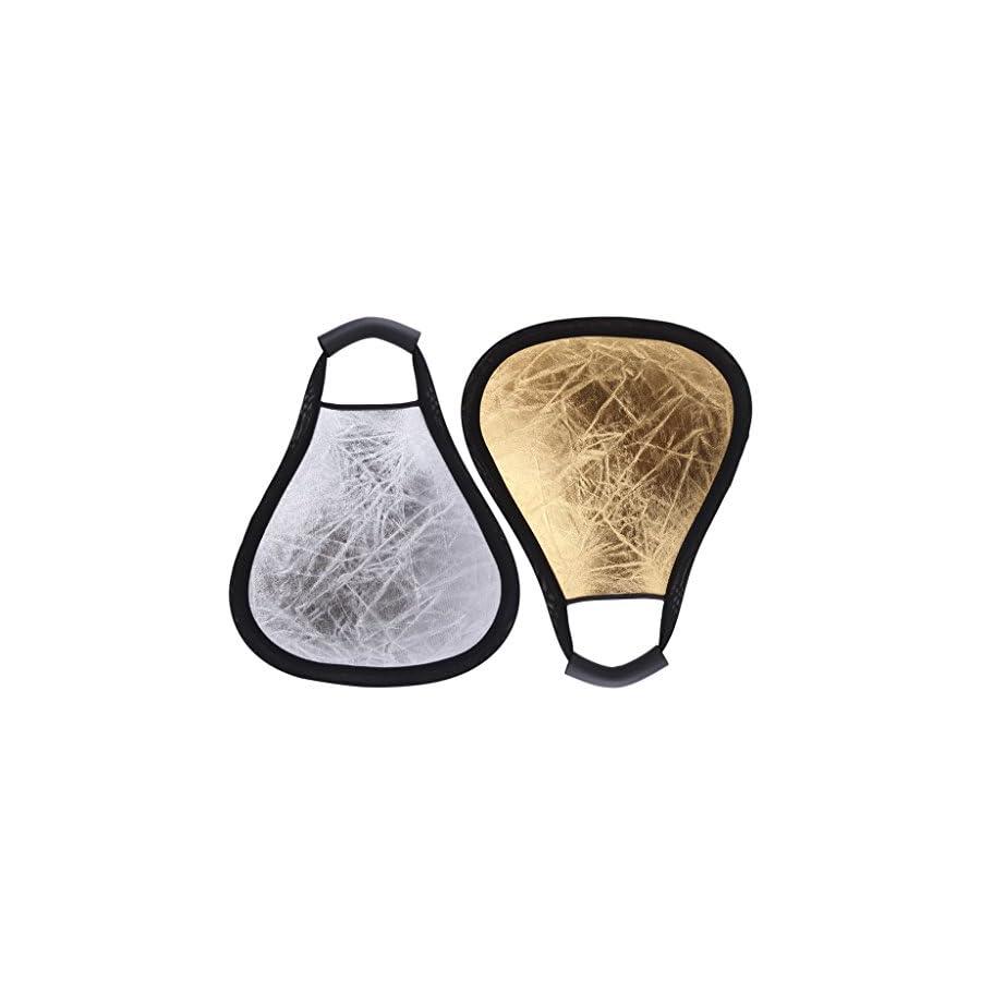 SCASTOE 30cm 2 in 1 Handheld Studio Photography Light Multi Collapsible Triangular Reflector Disc