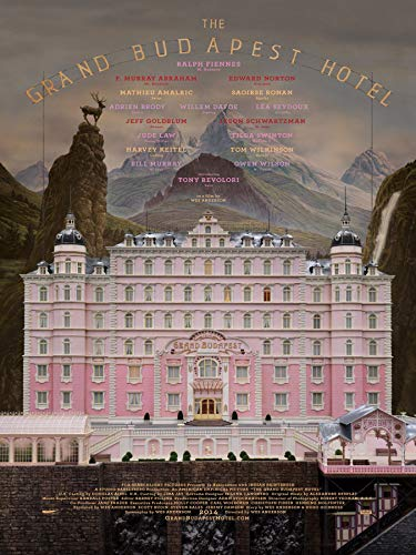 Mingki Grand Budapest Hotel Movie Poster - 18 × 24 Inch (The Best Grand Budapest Hotel)