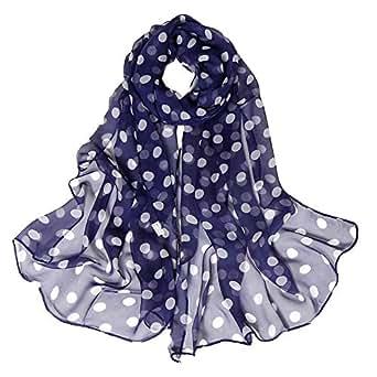 aliveGOT Womens Polka Dots Fall Winter Scarves Shawl Wraps
