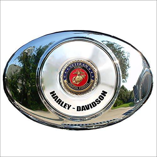 MotorDog69 Marine Veteran Harley Air Cleaner Coin Mount Set/…
