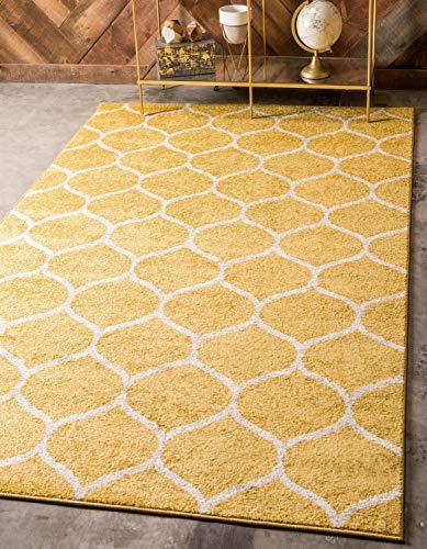 Unique Loom Trellis Frieze Collection Lattice Moroccan Geometric Modern Yellow Area Rug (2' 0 x 3' 0) ()