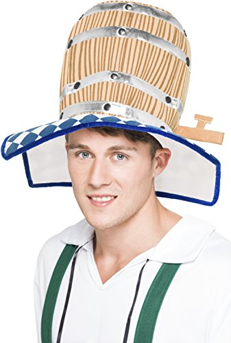 Oktoberfest Beer Barrel Hat Fancy Dress Man Costume by Smiffy's (Cheers And Beers Costume)