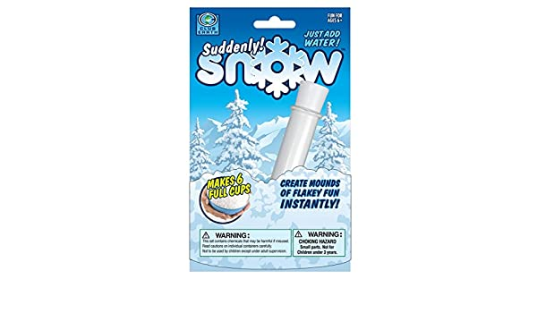 Makes 6 Full Cups of Instant Snow Powder Suddenly Snow Create Mounds Of Mounds Of Flakey Fun