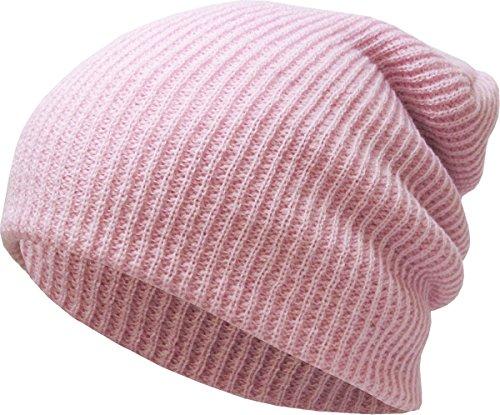 (KBW-12 LPK Solid Slouchy Beanie Baggy Style Skull Cap Winter Unisex Ski Hat)