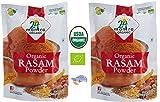 Organic Rasam Powder USDA Certified Organic EU Certified Organic Pesticides Free Adulteration Free Sodium Free - Pack of 2 X 3.5 Ounces (7 Ounces) - 24 Mantra Organic