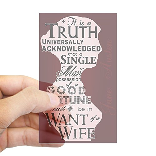 CafePress Jane Austen Truth Quote Rectangle Sticker Rectangle Bumper Sticker Car Decal (Rectangle Sticker Quote)