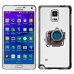 LECELL--Funda protectora / Cubierta / Piel For Samsung Galaxy Note 4 SM-N910 -- Photographer Eye Focus Gray --