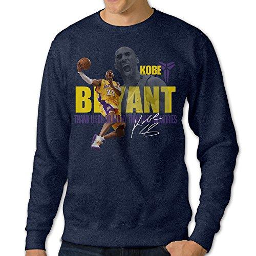[Mooy Men's High-quality Kobe Dear Basketball Game Sweater Size 3X Navy] (Beats Pill Costume)