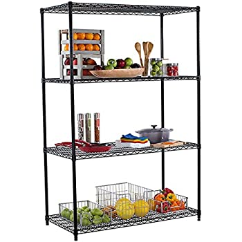TRINITY 4 Tier NSF Shelving Rack, 48 By 24 By 72 Inch,