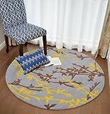 Rug 3d carpet Round carpet Fiber carpet Living room carpet Washed carpet Carpet wear-resistant Nordic carpet120120cm47x47inch-D 160x160cm(63x63inch)