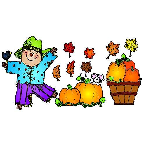 Carson Dellosa D.J. Inkers Pumpkin Patch Bulletin Board Set (610048) (Set Board Scarecrow Bulletin)