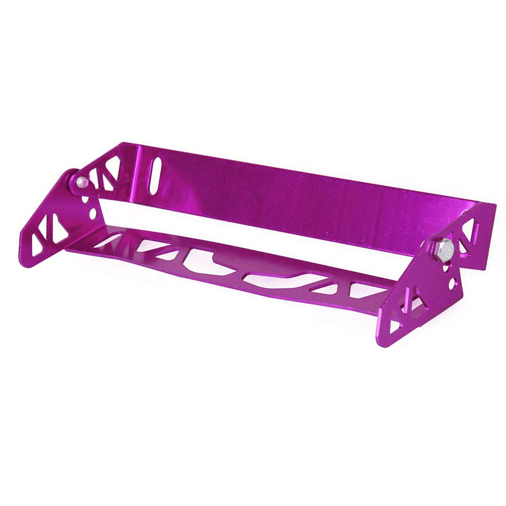 Semoic Automobile retrofit General license plate frame pattern license plate frame adjustable aluminum alloy license plate frame purple