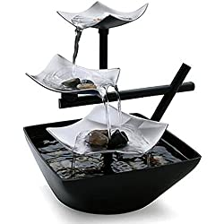 Kleanco Home It - Zen Fountain Relaxation Tabletop Water Indoor Waterfall Home Decor Table Rock Garden