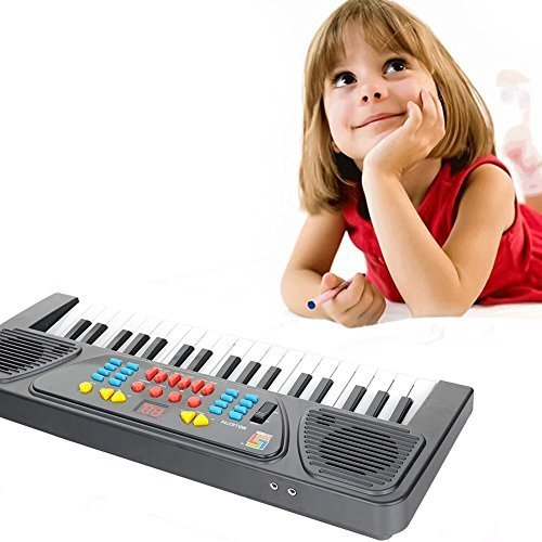 Kingtoys@ Electric Piano 37-key Keyboard Digital Piano Mini Keyboard Electronic Piano Portable Keyboard Kids Piano with Microphone Piano Shop Kids Gift Kids Toys
