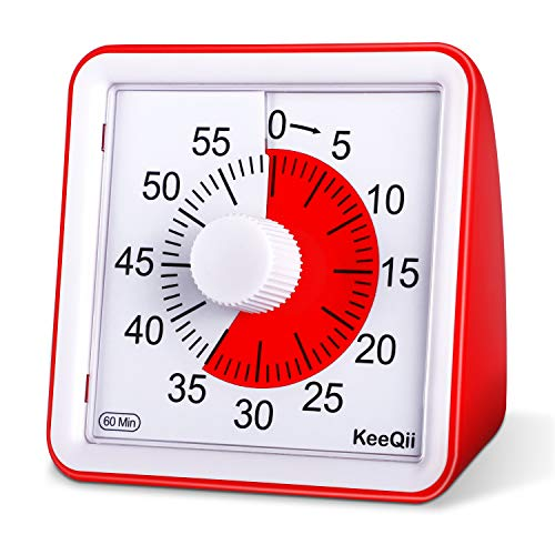 KeeQii 60 Minute Visual Timer Silence Countdown timer Time Management Tool