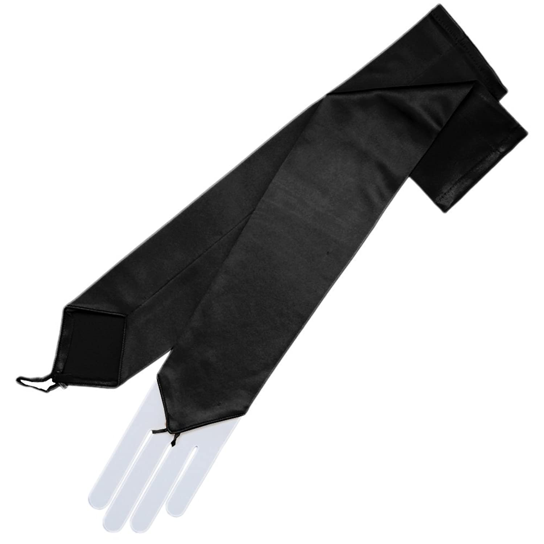 Black dress gloves - Amazon Com Zaza Bridal Stretch Satin Fingerless Gloves Opera Length 16bl Black Clothing