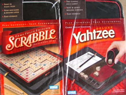 Scrabble and Yahtzee Game Folio Edition Set