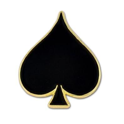 gold spade card  Amazon.com: PinMart Black Spade Playing Card Suit Enamel ...