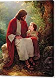 ''In His Light'' by Greg Olsen, Canvas Print Wall Art, 16'' x 20'', Mirrored Gallery Wrap, Glossy Finish