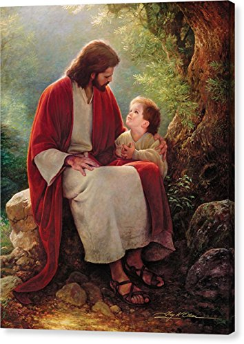 ''In His Light'' by Greg Olsen, Canvas Print Wall Art, 16'' x 20'', Mirrored Gallery Wrap, Glossy Finish by Pixels