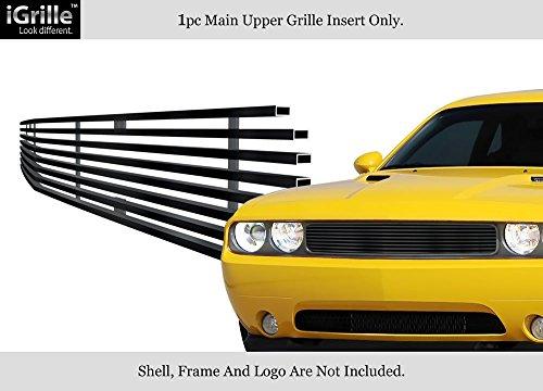 Fits 2009 2014 Dodge Challenger Black Stainless Steel Billet Grille Grill Insert D66607j