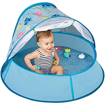 Babymoov Aquani Tent & Pool – 3 in 1 Pop Up Tent, Kiddie Pool and Play Yard