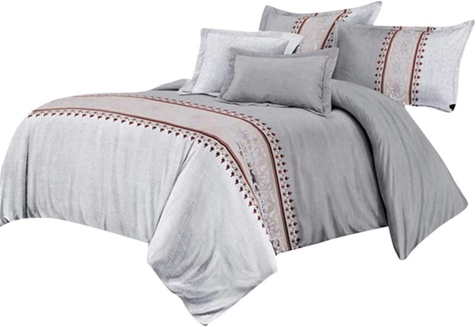 HotYou Colcha Clásico con Funda de Almohada Noble y Refinado, Suave y Comodo,Gris Plateado,200x230cm(1*Quilt Cover + 2*Pillowcase)