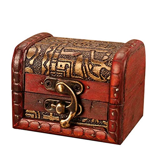 tallahassee Antique Wooden Embossed Flower Pattern Jewelry Box Storage Organizer Gift Decorative Boxes (Style 5)
