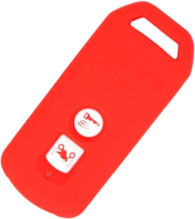 Rouge Happyit Cas de Couverture de Cl/é de Voiture en Silicone pour Honda PCX 150 Hybride X-ADV SH125 Scoopy SH300 Forza 125 300 Scooter 2 Boutons
