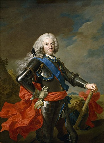 Polyster Canvas ,the Best Price Art Decorative Prints On Canvas Of Oil Painting 'Loo Louis Michel Van Felipe V Rey De Espana Ca. 1739 ', 16 X 22 Inch / 41 X 56 Cm Is Best For Powder Room Decor And Home Decor And Gifts (Louis Xvi Chandelier Style)