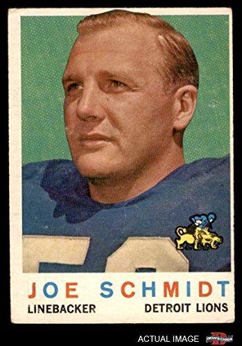 Joe Schmidt Detroit Lions - 1959 Topps # 6 Joe Schmidt Detroit Lions (Football Card) Dean's Cards 3 - VG Lions