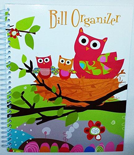 Owl Spiral Bound Monthly Bill Organizer (Owl Theme)