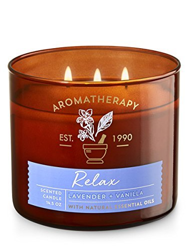 Bath & Body Works Aromatherapy Scented Candle in RELAX-Lavender Vanilla