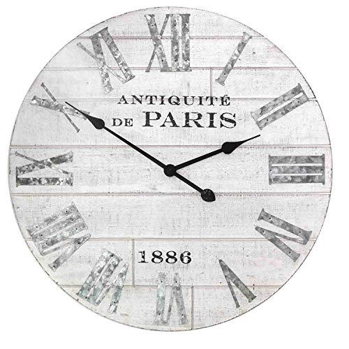 Stratton Home Decor — Dropship, us home, SUHQX Stratton Home Decor Adrianna Wood Clock Wall D cor, White