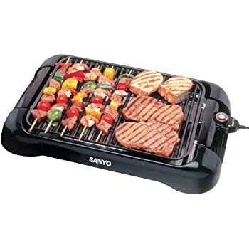Pansonite HPS-SG3 200-Square-Inch Electric Indoor Barbeque Grill, Black