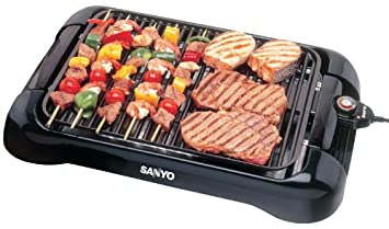 Amazon.com: Sanyo HPS-SG3 200-Square-Inch Electric Indoor Barbeque ...