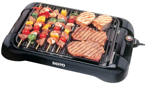 Attractive Amazon.com: Sanyo HPS SG3 200 Square Inch Electric Indoor Barbeque Grill,  Black: Electric Contact Grills: Kitchen U0026 Dining