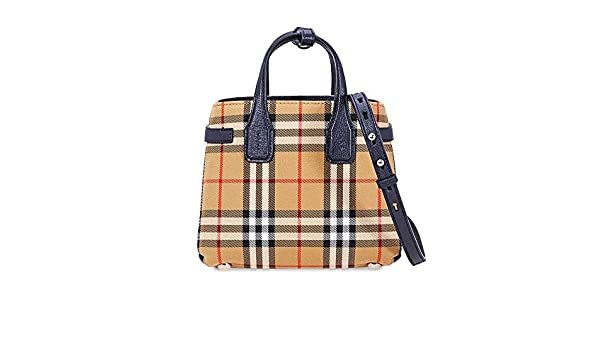3bb4e6c0022 Burberry Baby Banner in Vintage Check and Leather- Regency Blue: Handbags:  Amazon.com