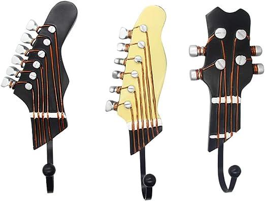 KUNGYO Juego de 3 Ganchos Decorativos Guitarra Forma Vintage ...