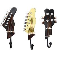 KUNGYO Juego de 3 Ganchos Decorativos Guitarra Forma